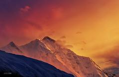 Rakaposhi on Fire (xeeart) Tags: pakistan sunset mountain mountains clouds canon rakaposhi hunza hunzavalley canon6d xeeshan
