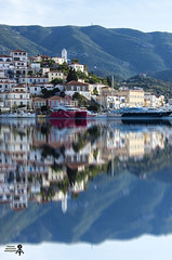 Another view of Poros island (theseustroizinian) Tags: color reflection art canon reflections greek flickr colours ngc hellas greece poros hellenic canoneos700d