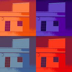 pop goes the facade (msdonnalee) Tags: building facade digitalart popart fx