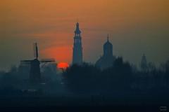 1983_12DIA065.14 (niek haak) Tags: windmill skyline middelburg molen langejan oostkerk