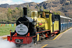 "No 10 ""NORTHERN ROCK"" (Cumberland Patriot) Tags: railroad england rock train boot track 10 rail railway loco trains steam number cumbria and borough locomotive passenger northern railways gauge narrow cumberland copeland laal eskdale terminus ratty ravenglass dalegarth statin"