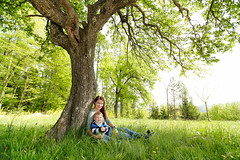 Mother & Son (anna_hoeller) Tags: wood boy summer portrait baby sunlight tree green nature smile field grass forest happy kid spring toddler child joy mother happiness son joyful