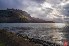 Evening by Eilean Donan Castle (Kasia Sokulska (KasiaBasic)) Tags: light sky skye water clouds kyle landscape evening scotland highlands loch eileandonan dornie springmountains