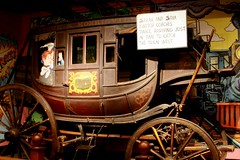Stagecoach (Emily K P) Tags: chicago industry wheel museum wagon wooden coach exhibit science wildwest stagecoach museumofscienceandindustry