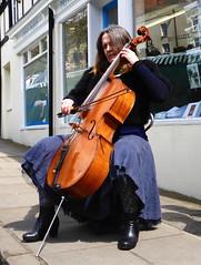 Excellent mystery cellist (Kumukulanui) Tags: musician music market bach cello solo abbeyroad malvern suite streetmarket greatmalvern cellist stringedinstrument soloist
