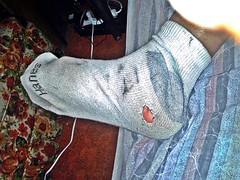 white/gray Hanes ankle sock 7 (nettie83_2000) Tags: socks sock dirty sweaty smelly hanes dirtysock