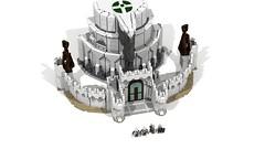 Minas Tirith 11 (Anduin1710) Tags: city white men king minas lego lotr return tolkien middleearth jrr tirith the thelordoftherings ldd gondor digitaldesigner