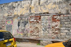 Getsemani Street Art, Cartagena, Colombia (Corvair Owner) Tags: street door plaza old city art buildings painting graffiti mural scenery colombia centro january statues drawings columbia trendy walls scenes cartagena cartegena oldcity walled gethsemane 2016 historico getsemani