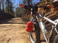 Dirt Roading (The Goat Whisperer) Tags: road bike bicycle fat alabama dirt pugs pugsley surly fatbike