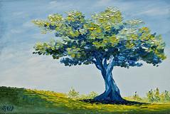 """""""Paisaje con olivo"""". (svet.llum) Tags: arte paisaje pintura óleo olivo"""