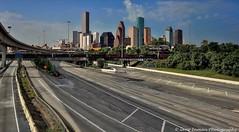 Ghost town - Houston Texas Skyline (GeneInman.com) Tags: fog skyline nikon texas gloomy flood foggy houston roadtrip gloom d800 ipad emptyroads geneinmanphotography geneinman wwwgeneinmancom ipadedit snapseed