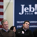 Jeb Bush with supporters