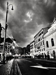 Racconti romani (swaily ◘ Claudio Parente) Tags: bw rome roma night bn largoargentina swaily