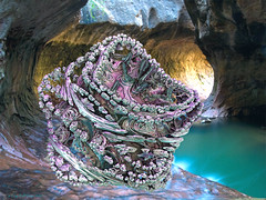 Cave Grown (CopperScaleDragon) Tags: colorful fractal cave grown mdb3d