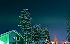 Aurora Anime by Teresa Cooper (tc2084) Tags: travel trees winter snow tourism finland season photography lights photographer astrophotography aurora lapland levi animated northern borealis teresacooper