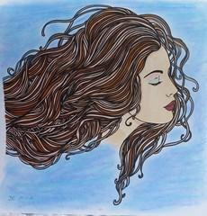 Ambiance bohème (Au fil de l'eau) (delphinecingal) Tags: coloring estompe coloriage aufildeleau pastelsgras promarkers ambiancebohème