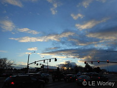 January 15, 2016 - Pretty skies in Thornton. (LE Worley)