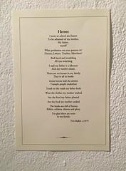 'Heroes' a poem by Teri Bullen from the order of service at her funeral. (szczel) Tags: poem liam 1975 heroes 198 workingclass selfesteem classpride teribullen