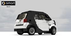 Smart MkIII (lego911) Tags: auto urban smart car benz model lego render german micro hatch coupe daimler cad povray moc mkiii mk3 ldd daimlerbenz 2015 miniland 2010s lego911