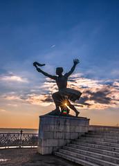 Sunset at Gellert hill (Vagelis Pikoulas) Tags: city winter sunset sun statue canon europe hungary view time budapest central january tokina sunburst buda 6d 2016 1628mm