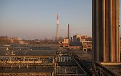 Industrial landscape at dawn