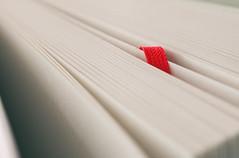 Bookmark (simonpe86) Tags: red white macro rot buch book makro weiss lesezeichen flickrchallengegroup flickrchallengewinner