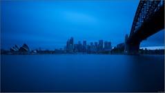 """Blue Summer Evening"" Milsons Point, Sydney, Australia (January 2016) (Kommie) Tags: bridge blue house point big opera long exposure harbour dusk tripod sydney australia filter r lee hour fujifilm fujinon f4 milsons stopper ois xt1 1024mm"