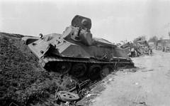 Soviet T-34  & Zis-5trucks abandoned  near Belarus July 1941 (tormentor4555) Tags: 2 abandoned near july soviet ww belarus 1941 t34 zis5trucks