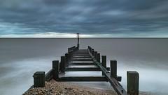 Wet Groyne (John Pettigrew) Tags: wood sea seascape storm beach clouds nikon long exposure horizon structures d750 tamron gorleston defences 2470mm