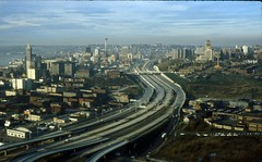 Downtown and I-5, 1966 (Seattle Municipal Archives) Tags: seattle i5 skylines spaceneedle 1960s freeways downtownseattle interstate5 seattlemunicipalarchives