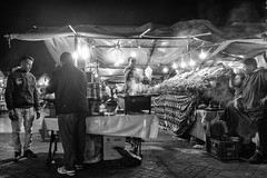 Chez SIMO #2 (enzo marcantonio) Tags: africa street leica city travel people blackandwhite bw food night work square outside holidays place outdoor streetphotography eat enzo marocco marrakech souk streetphoto q streetfood summilux ethnicity jamaaelfna marcantonio leicaq enzomarcantonio