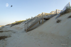 Brian_OBX 168a LG_062815_2D (starg82343) Tags: vacation moon kite beach grass stairs fence outside outdoors evening nc sand dunes sandy hill steps northcarolina stairway coastline 2d picturesque outerbanks lunar sanddunes eastcoast sandfence brianwallace sanddunefence