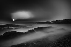 Smoky sunset (karthik Nature photography) Tags: ocean longexposure sunset sea blackandwhite seascape abstract beach nature canon landscape outdoors landscapes scenery exposure fineart environment naturephotography tranquilscene landscapephotography largegroupofobjects abstractphotography canonphotography canon1635mm sunsetphotography canon5dmark3 rockobject