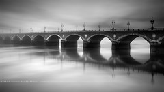 Pont de Pierre ( Bordeaux, France ) (Yannick Lefevre) Tags: city longexposure bridge bw france monochrome landscape nikon europe raw nef bordeaux pont paysage pontdepierre garonne ville fleuve nisi aquitaine pyrénéesatlantiques poselongue leefilters d700 fstopper nikkor1635mmf4 09gndsoft photoshopcc lightroomcc