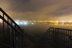 Foggy Night on the Floodwall