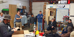 Euroc@EMS II (Wolfram Burner) Tags: building oregon design community space eugene electronics rockets burner maker making rocketry wolfram accelerometers altimeters euroc makerspace