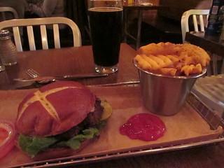 Eating at Harper's Burger Bar