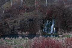 LyleWaterfall (the_apostle99) Tags: waterfall cloudy places cattails obscure lyle obscurenature