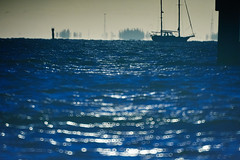 Sailboat in the Harbour (FunkadelicSam) Tags: ocean water landscape boats photography florida harbour ripple punta sail gorda