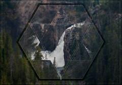 Geometric Yellowstone Falls (TSJOliver) Tags: geometric landscape waterfall triangle rocks yellowstone