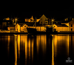 Sodium light silhouette (Impact Imagz) Tags: nightphotography light colour boats lights scotland nightscape nightshot harbour fishingboats fishingboat westernisles sodium isleoflewis harbourlights stornoway outerhebrides sodiumlights stornowayharbour