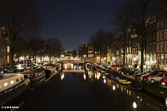 Amsterdam. (alamsterdam) Tags: longexposure amsterdam reflections evening brouwersgracht