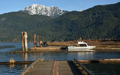The End of the Dock...Pitt Lake (SonjaPetersonPh♡tography) Tags: lake canada mountains water docks boats britishcolumbia boating pittlake goldenears pittriver goldenearsmountain nikond5200 pittlakemarina nikonafs18140mmf3556edvr