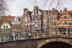 Uphill (farflungistan) Tags: bridge holland netherlands amsterdam bike architecture nederland streetphotography prinsengracht streetscenes jordaan brouwersgracht