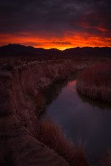 Sunrise Over The Inyo Mountains (WJMcIntosh) Tags: sunrise owensriver inyomountains