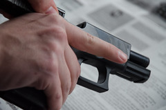 Cleaning a Glock (jessedixon_87) Tags: model gun cleaning honest maintenance pistol shooting zack tee 19 loading 9mm glock firearms notaredneck
