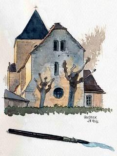 Valojoulx , honnêtement derrière l'église