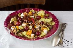 Ensalada templada de setas y calabaza (Frabisa) Tags: pumpkin recipe mushrooms salad homemade grapes calabaza ensalada setas uvas receta casero vinaigrette vinagreta rcipe