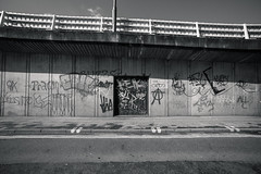 Graff Underpass (joshuacolephoto) Tags: road street uk b shadow england urban blackandwhite music art bristol photography grey graffiti video nikon bars noir photographer south freeway d750 hiphop rap graff videography