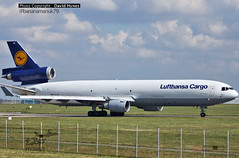 Lufthansa D-ALCN McDonnell Douglas MD-11 at London Stansted Airport 31 March 2016 (bananamanuk79) Tags: airplane aircraft aviation planes runway lufthansa stansted spotting md11 mcdonnelldouglas trijet planespotting spotter lufthansacargo mcdonnelldouglasmd11 londonstanstedairport dalcn